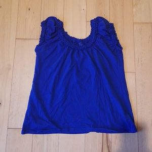 Blue Cap sleeved Top
